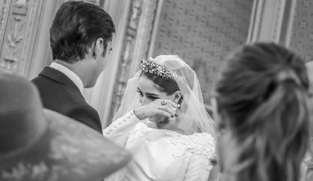 Rafa y Mariana en su boda.