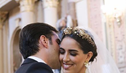 Rafael Herrera y Mariana Labarthe ya son esposos.