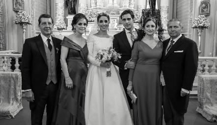 Alfonso Labarthe, Gladys Rangel, Mariana Labarthe, Rafael Herrera, Isabel Sánchez y Rafael Herrera.