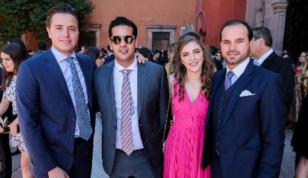 Pablo Herrera, José Antonio Alonso, Pau Martínez y Rodrigo Alcalde.