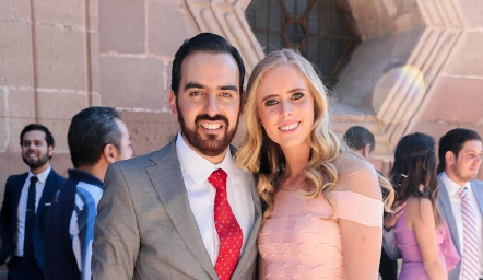 Rafa Olmos e Ingrid Velasco.