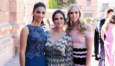 Meli Andrés, Montse Barral e Ingrid Velasco.