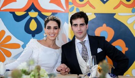 Los recién casados, Mariana Labarthe y Rafael Herrera.