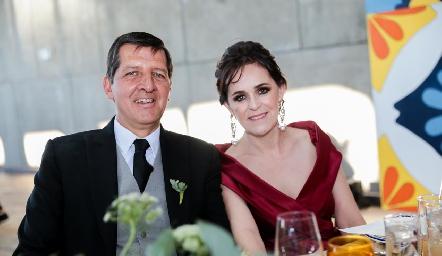 Alfonso Labarthe y Gladys Rangel de Labarthe.