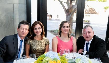 Toño Mendizábal, Rocío Nieto, Claudette Mahbub y Rodrigo Villasana.