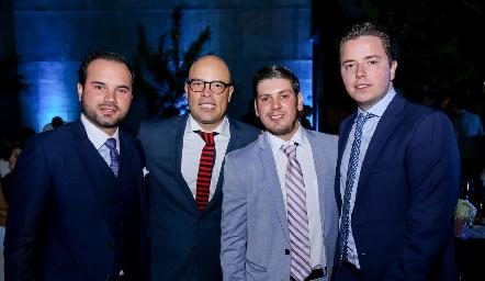 Rodrigo Abud, Germán Sotomayor, Edgar Olguín y Pablo Herrera.