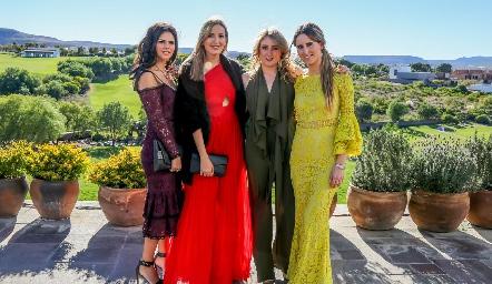 Ana Paula de la Fuente, Gaby Del Valle, Isa Fernández y Anna Ortuño.