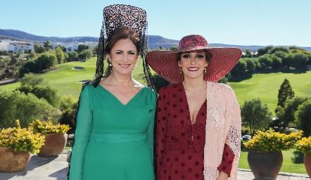 Isabel Sánchez y Helena Herrera.