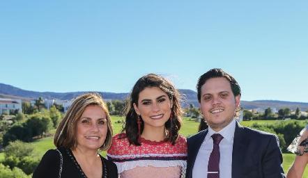 Tere Lastras, Tere Cadena y Jorge Naya.