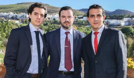 Armando Lasso de la Vega, Luis Antonio Mahbub y Horacio Tobías.