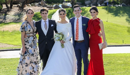 Gadys, Labarthe, Rafael Herrera, Mariana Labarthe, Poncho y Ana Ceci Labarthe.