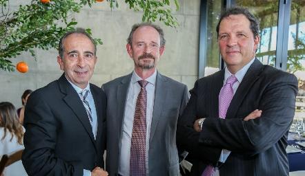 Pepe Medlich, Sergio Velasco y Pedro Martínez.