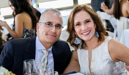 Ricardo Balbontín y Mónica Dorador.