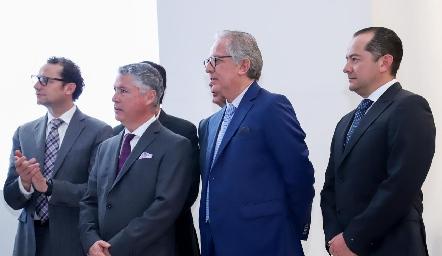 Manuel Escalera, Miguel Torres Corzo y Javier Flores.