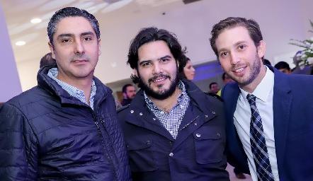 Jorge Cortés, Anuar Zarur y Andrés Torres.