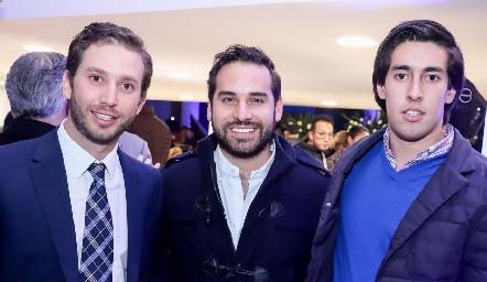 Andrés Torres, Jaime Alvarado y Rubén Torres.