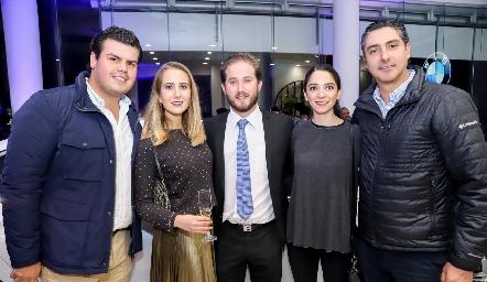 Mauricio Labastida, Lucía Martín Alba, Pablo Torres, Sofía Álvarez y Jorge Cortés.