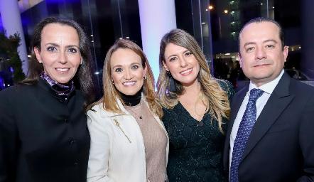 Rocío de la Torre, Mónica González, Doris Ruesga y Javier Flores.