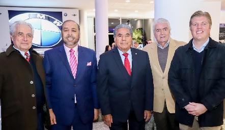Octaviano Gómez y Gómez, Teófilo Torres Corzo, Miguel Martínez, Salvador y Manuel Zárate.