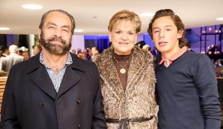Oscar Torres, Mónica Labastida y Jaime Ruiz.
