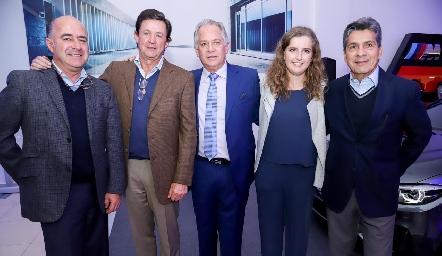 Rafael Olmos, Carlos López, Miguel Torres Corzo, Sofía Torres y Julio Castelo.