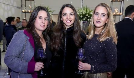 Isa López, Sofía Álvarez y Lucía Martín Alba.