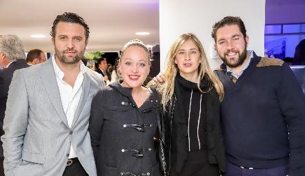 Tomás Salazar, Jessica Torres, Gaby Alvarado y Alejandro Zamanillo.