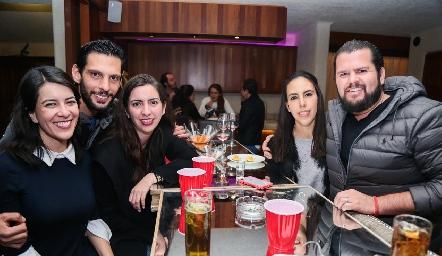 Mireya Pérez, Sebastián Tovar, Andrea Sánchez, Mariana Tobías y Santiago Meade.