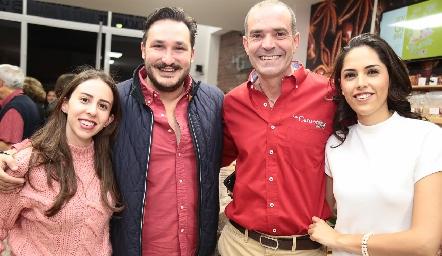 María Espinosa, Miguel García, Juan Cuétara y María villanueva.