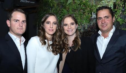 Miguel Valladares, Lucía Hernández, Daniela Hernández y Carlos Almazán.