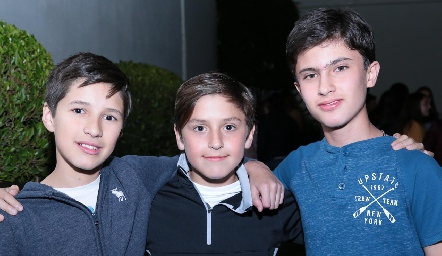 Lalo Nieto, Leonardo Zermeño y José Pablo Alarcón.