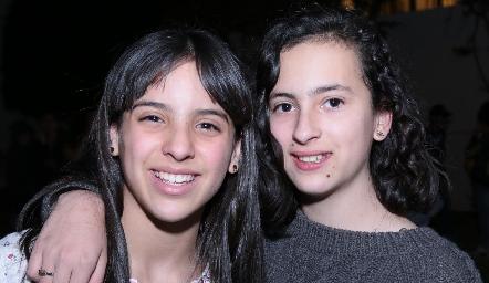 Lucciana Pillado y Dany López.
