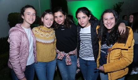Montse Estrada, Isa Villalobos, Marisol de los Santos, Connie Hermosillo y Ale Sánchez.