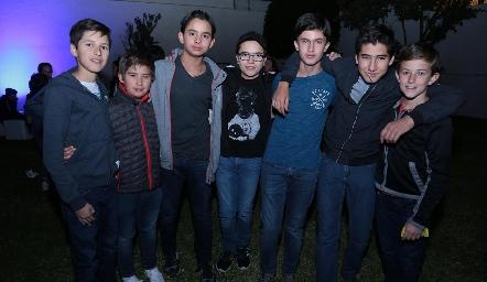 Lalo Nieto, Marcelo Villarreal, Alonso Escobedo, Javi Liin, José Pablo Alarcón, Emilio Zacarías y Pablo González.
