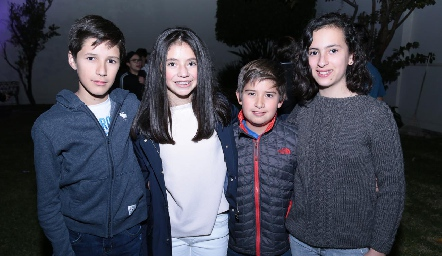 Lalo Nieto, Fer Acebo, Marcelo Villarreal y Dany López.