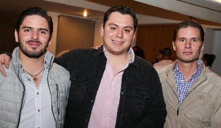 Ricardo Abud, Leonardo Gordoa y Jorge García.