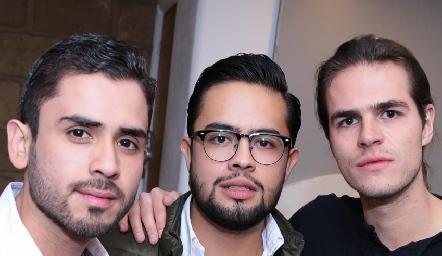 Sebastián Cárdenas, Juan Cortés y Eduardo Moctezuma.