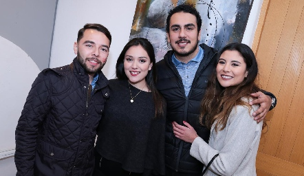 Hugo Gloria, Valeria Sustaita, Eduardo López y Marijó González.