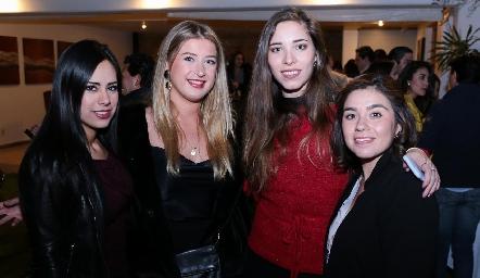 Mayela Cardona, Manón Fonseca, María José Liceaga y Gisela Cortés.