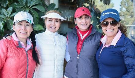 Gladys Nájera, Vianey Lara, Blanca Cantú y Patricia Lara.