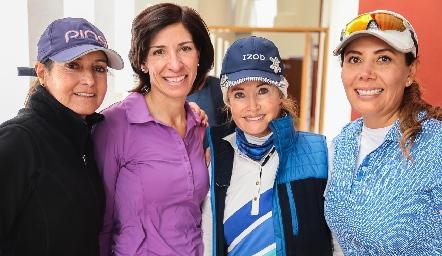 Alma Rosa Orozco, Roxana Fernández, Lidi Heinze y Vero Robledo.