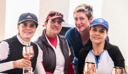 Norma Pardo, Blanca Cantú, Margarita Padilla y Paty González.