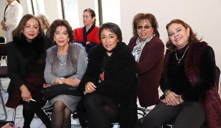 Rebeca Konishi, Lucero Rosillo, Marilú Lira, Carmelita Vázquez y Silvia Esparza de Romo.