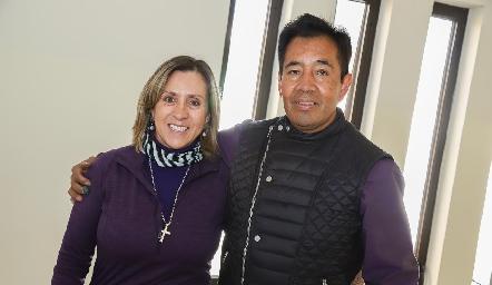 Rocío de Sigona y Eleazar Escobar.