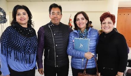 Diana Reyes, Eleazar Escobar, Mónica Alcalde y Adela Martínez.
