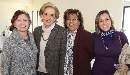 Any de Anaya, Cristina Garfias, Carmelita Vázquez y Rocío de Sigona.