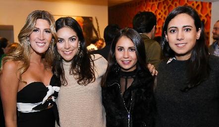 Martha de la Rosa, Ana Rodríguez, Bety Lázaro y María Berrueta.