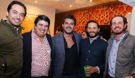 José Luis, Rolando Domínguez, Daniel Dauajare, Memo Hernández y Octavio Aguillón.
