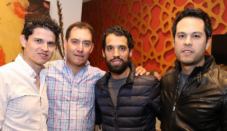 Víctor Paulín, Paco Dauajare, Alejandro Romo y Beto Berrones.