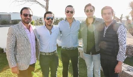 Rodrigo Alcalde, Mauricio Mahbub, Francisco Villanueva, Pablo Herrera y Rodolfo Ortega.